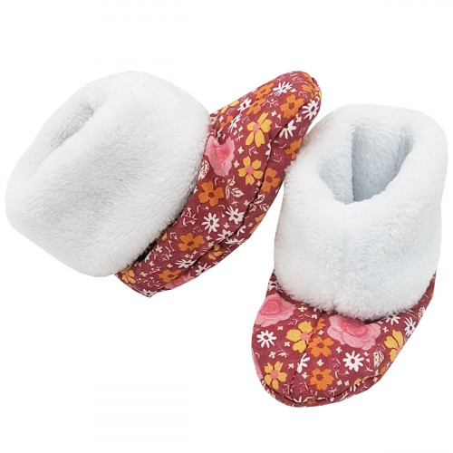 Bootee Romantique for baby. Original and cool birth gift. Manufactured in France with love.