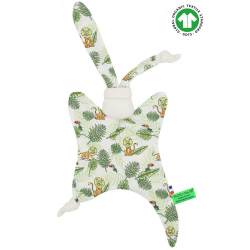 ORGANIC BABY COMFORTER L'EXOTIQUE. Made in France