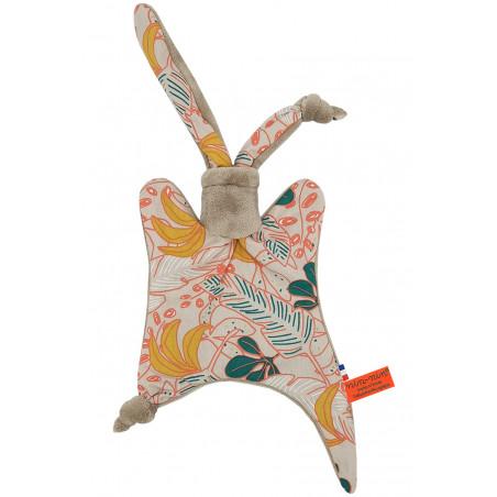 Original baby comforter banana. Personalised soft toy made in France. Nin-Nin Brand