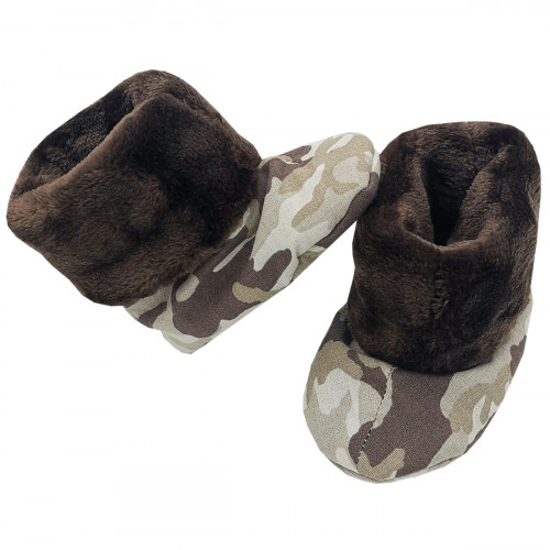 Bootee Camouflage for baby. Original and cool birth gift. Manufactured in France with love.
