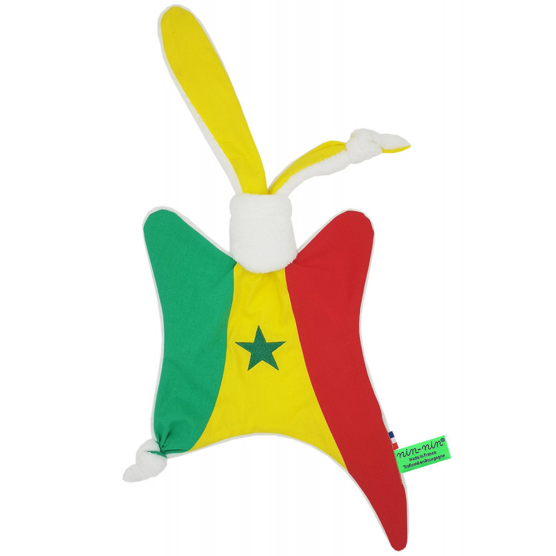 Doudou The Senegalese. Original customizable and made in France birth gift.