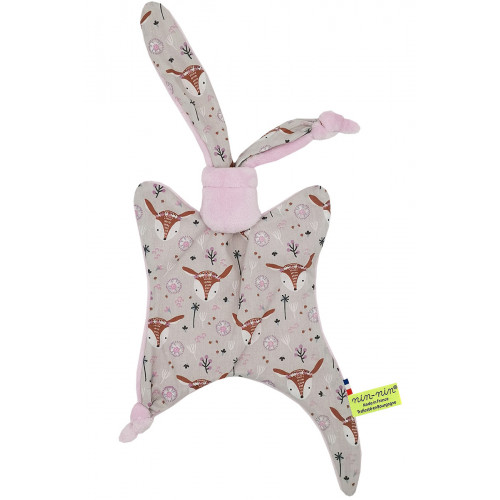 Original baby comforter Boheme. Personalised soft toy made in France. Nin-Nin Brand