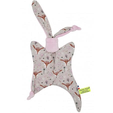 Original baby comforter Boheme. Personalised soft toy made in France. Nin-Nin Brand