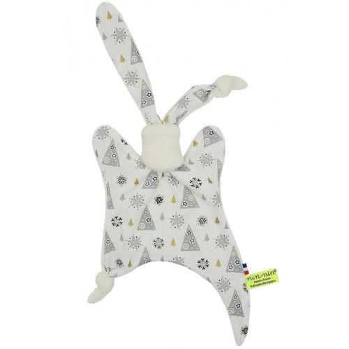 "Baby comforter ""Le Lapon"". Customizable Christmas gift made in France. Nin-Nin brand"