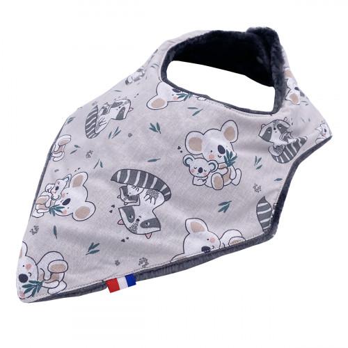 """Customizable bandana bib """"The Raccoon"""". Made in France. Nin-Nin"""