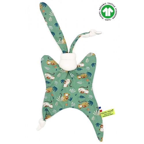 Organic comforter Le Capucin. GOTS birth gift, original and made in France. Nin-Nin