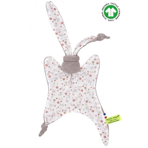 Organic comforter The Stars. GOTS birth gift, original and made in France. Nin-Nin